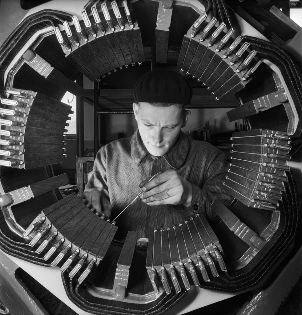Hans Steiner, Officina ferroviaria, 1945-1950