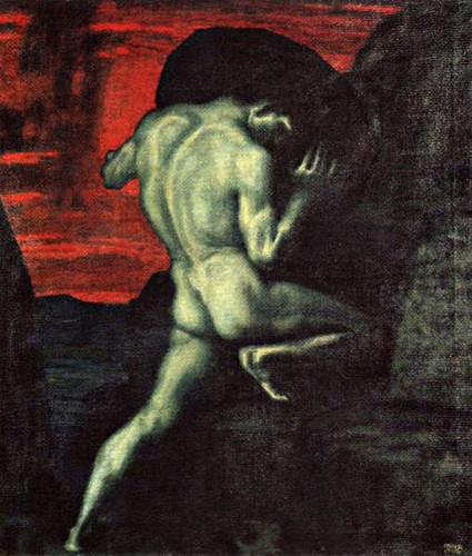 """Franz Von Stcuk (1863-1928), """"Sisyphus"""""""