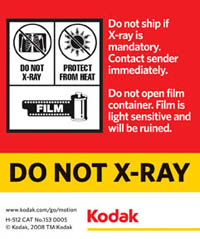 Do Not Xray Label