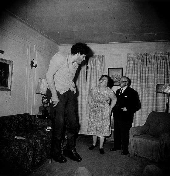 """Diane Arbus, """"Jewish Giant at Home with His Parents in The Bronx"""", 1970"""
