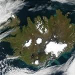 Immagine satellitare dell'Islanda, Settembre 2002