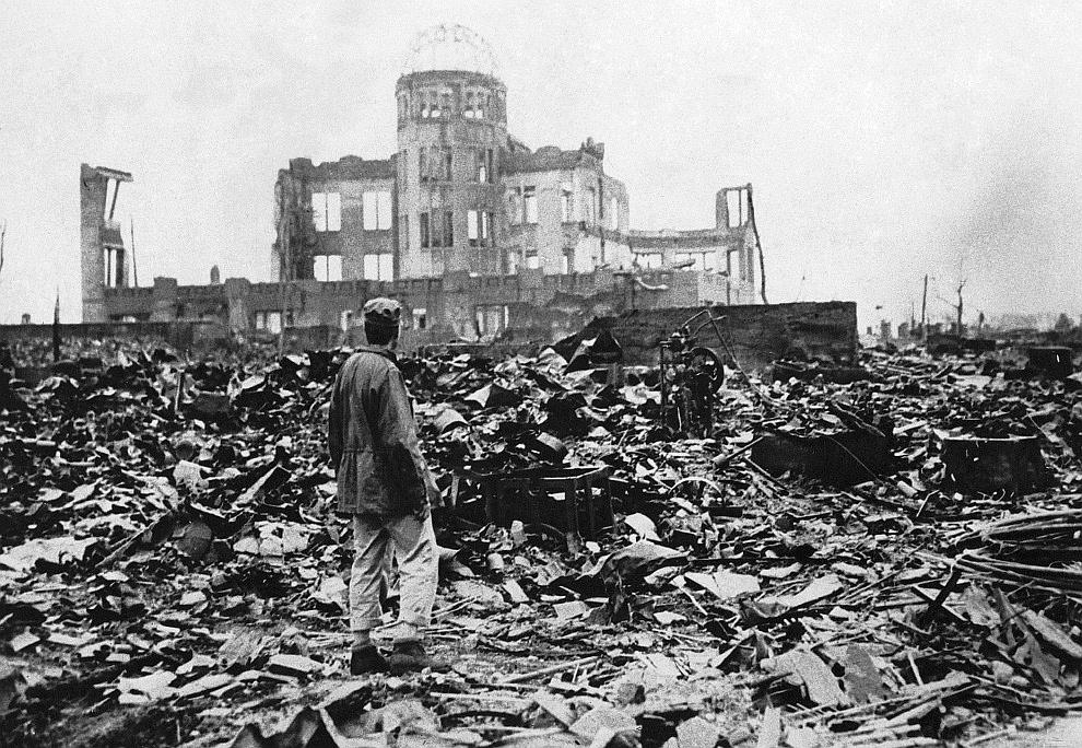 La distruzione di Hiroshima (fonte: boston.com)